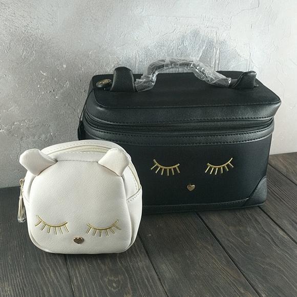 13821915f9ea Lionel Cat Makeup Bag Duo